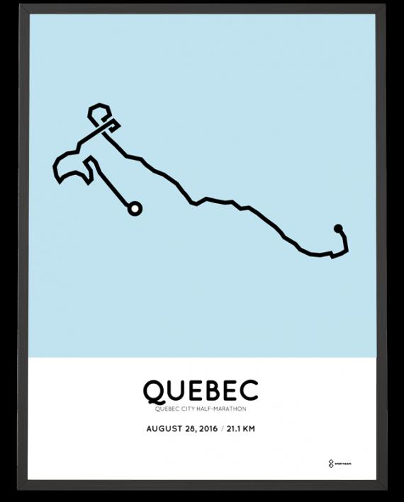 2016 Quebec City half-marathon course print
