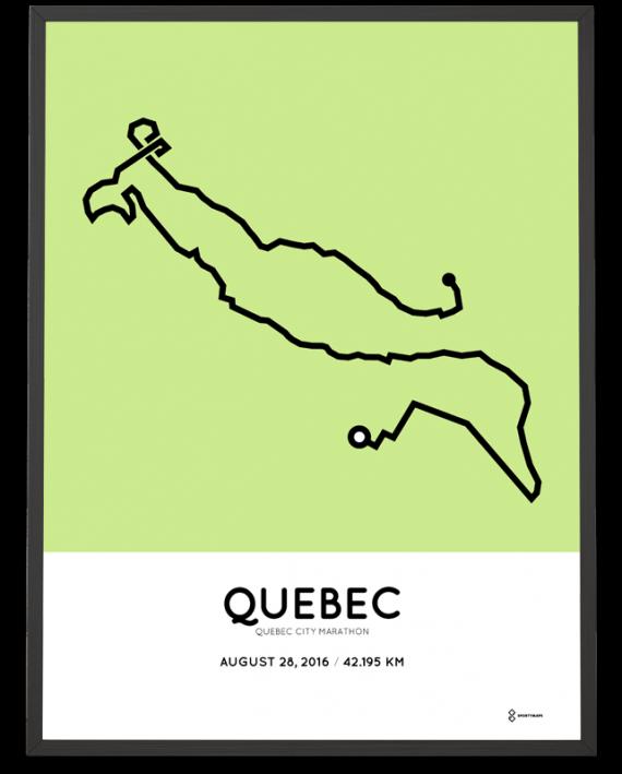 2016 Quebec City Marathon course print