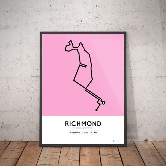 2016 richmond half marathon route print