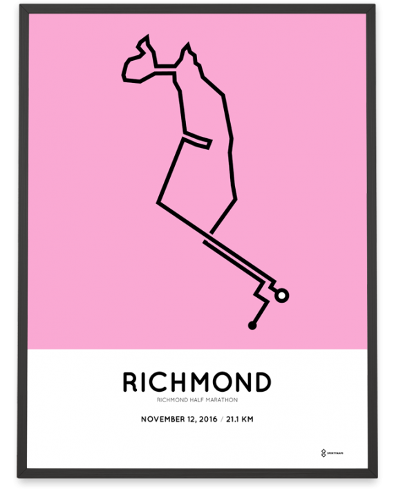 2016 richmond half marathon course poster