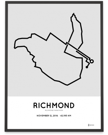 2016 richmond marathon course print