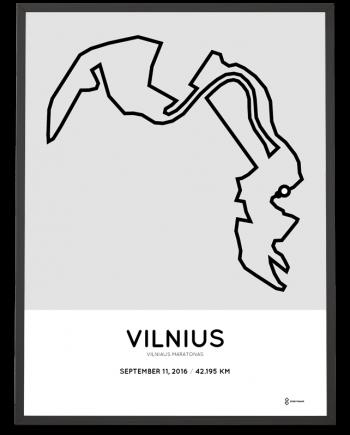 2016 vilniaus maratanos course poster