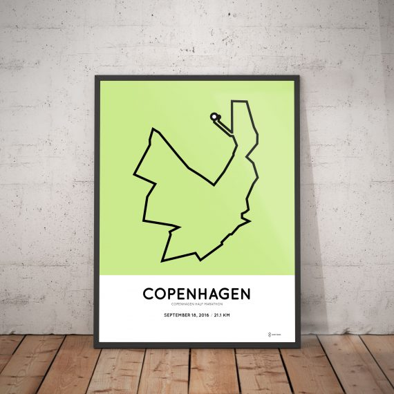 2016 copenhagen half marathon course print