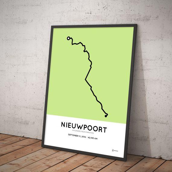 In Flanders Fields Marathon 2016 parcours print