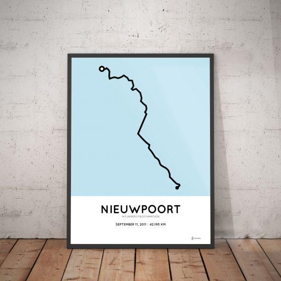 2011 in flander sfields marathon route print