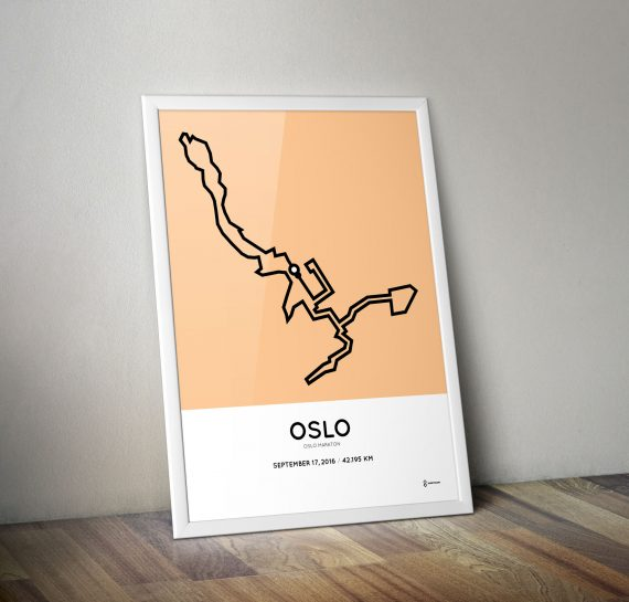 oslo maraton 2016 course print artwork