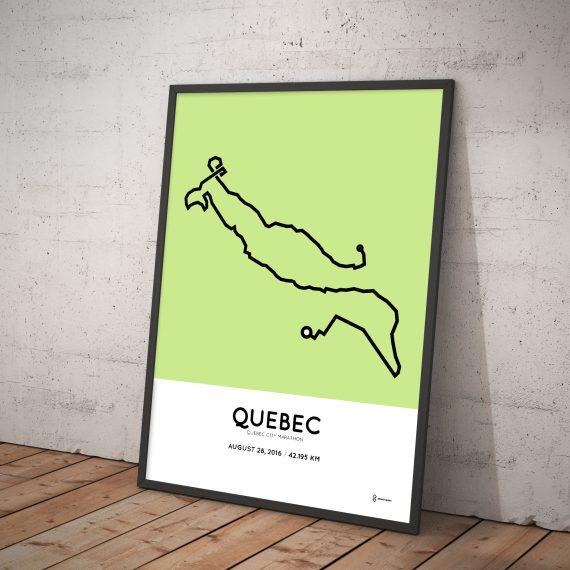 2016 Quebec city marathon route print