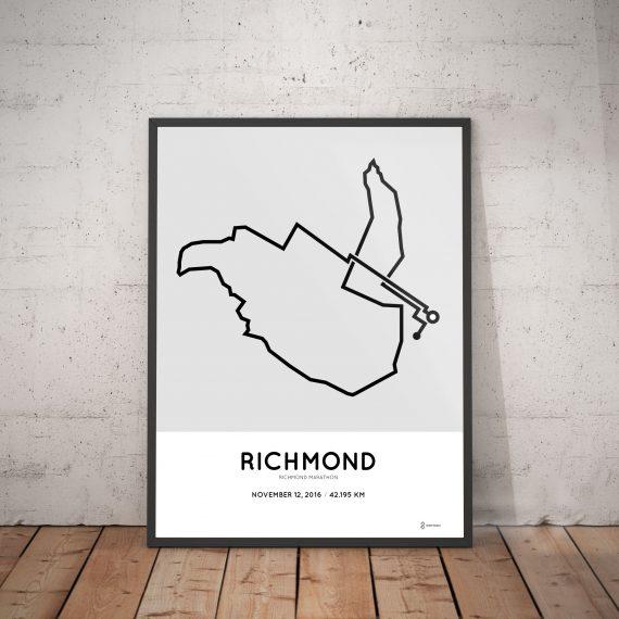 2016 Richmond marathon course artwork
