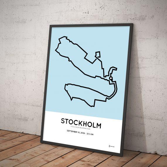 2016 stockholm half marathon print