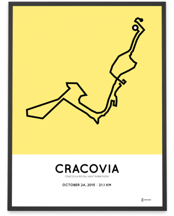 2015 cracovia royal halfmarathon course poster