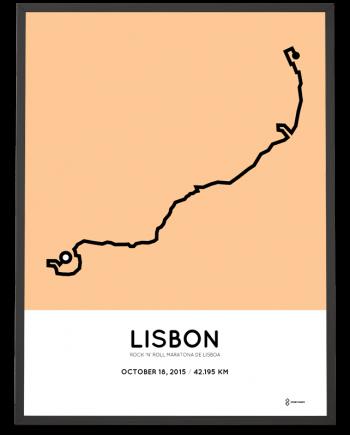 2015 lisboa marathon course poster