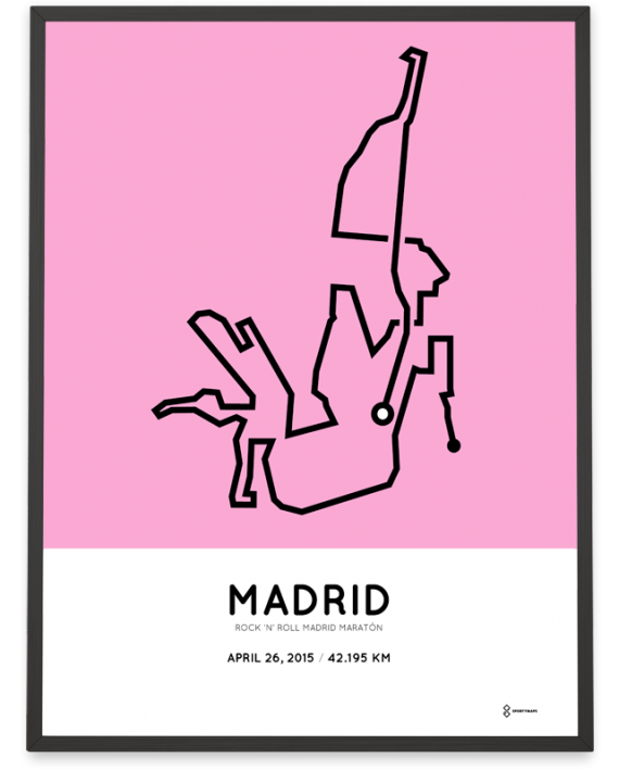 2015 madrid marathon course poster