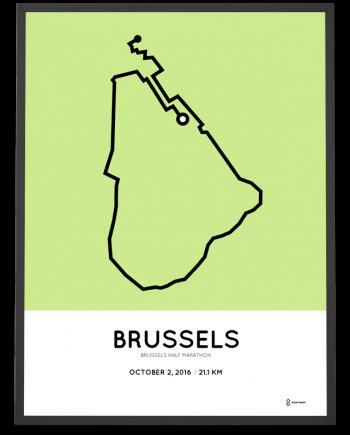 2016 brussels half marathon course print