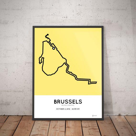 2016 brussels marathon course print