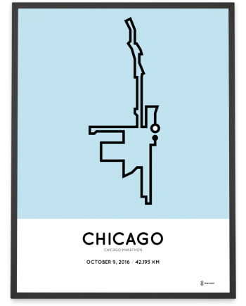 2016 chicago marathon course print