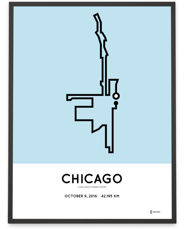 2016 Chicago Marathon print Sportymaps