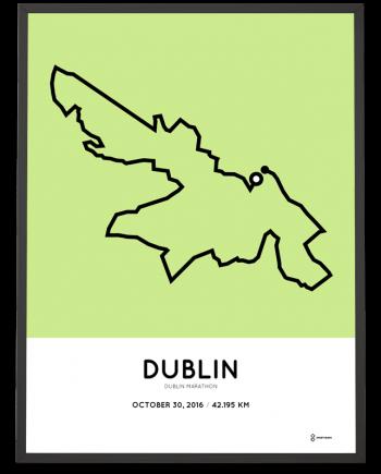 2016 Dublin marathon course poster