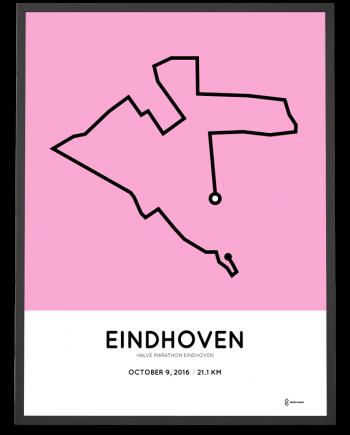 2016 eindhoven halve marathon parcours poster