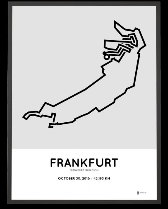 2016 frankfurt marathon course poster