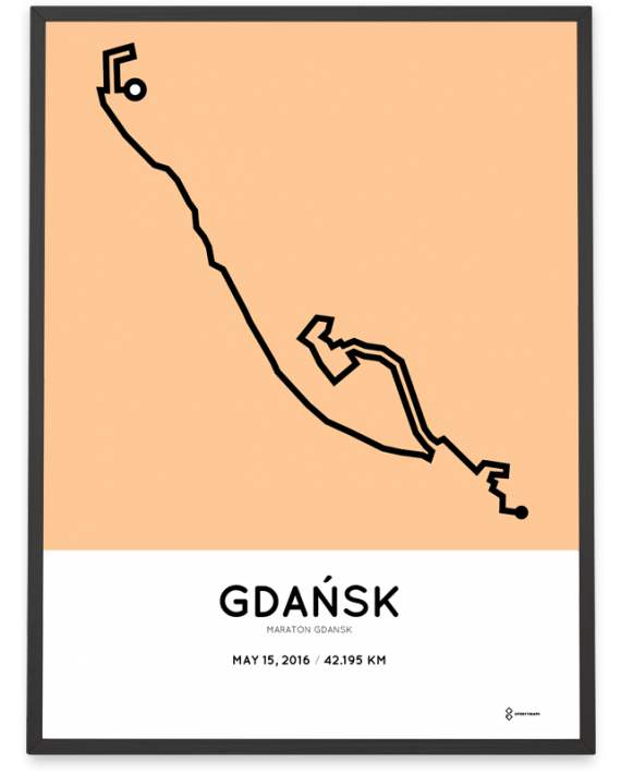 2016 gdansk marathon course poster