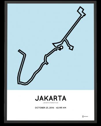 2016 jakarta marathon course poster