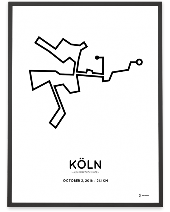 2016 koln half marathon course poster