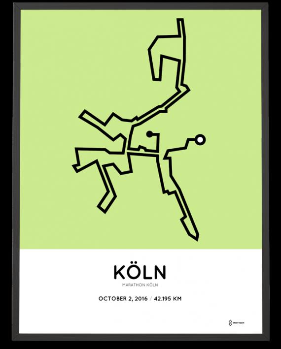 2016 koln marathon course poster