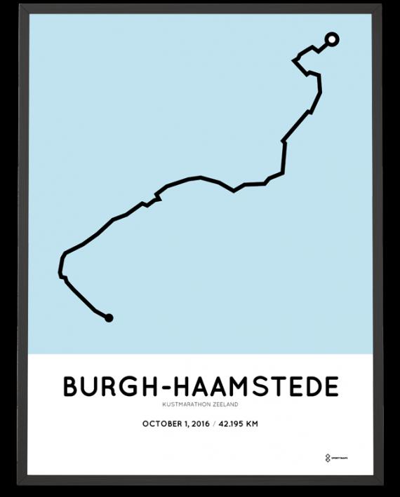 2016 kustmarathon zeeland course poster