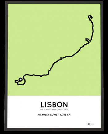 2016 Maratona de Lisboa course print