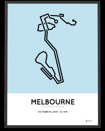 2016 melbourne half marathon course poster