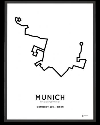 2016 munich half marathon course print