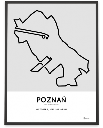 2016 Poznan maraton course poster