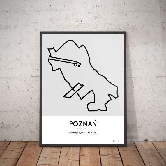 2016 poznan marathon course print