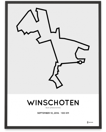2016 Run Winschoten 100km route poster