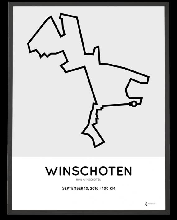 2016 Run Winschoten 100km route poster