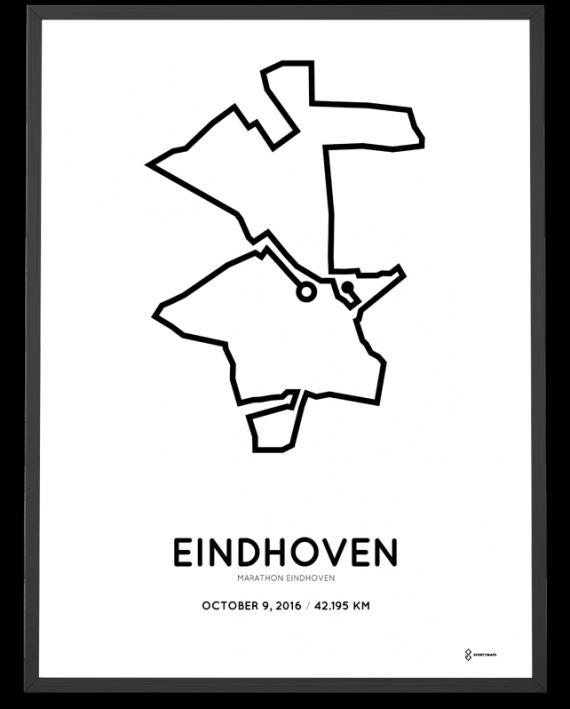 2016 marathon eindhoven route print
