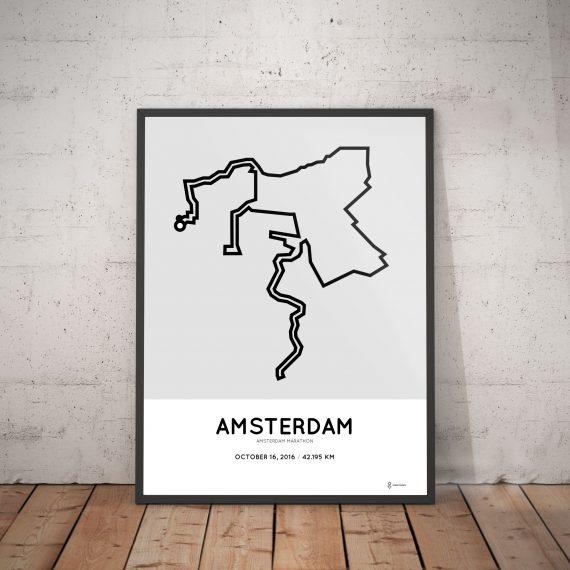 2016 amsterdam marathon course print