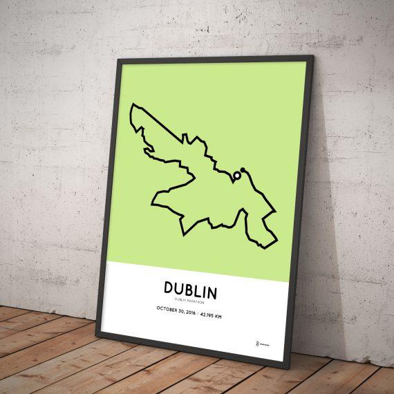 2016 Dublin marathon route print