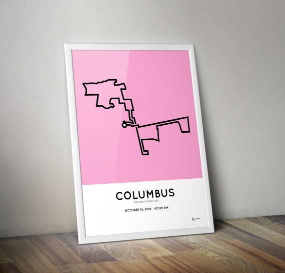 2016 columbus marathon course print