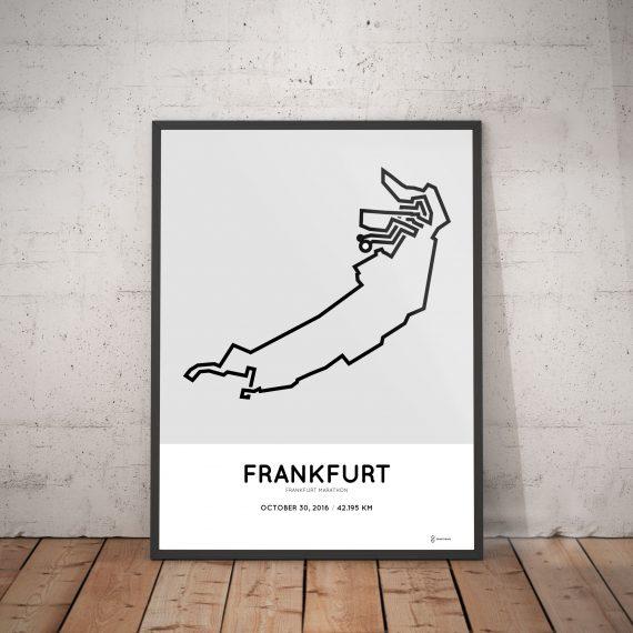 2016 frankfurt marathon course print