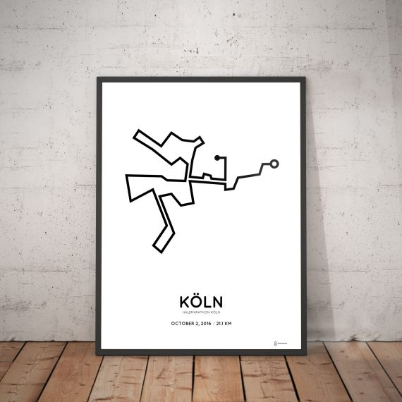 2016 koln halbmarathon course print