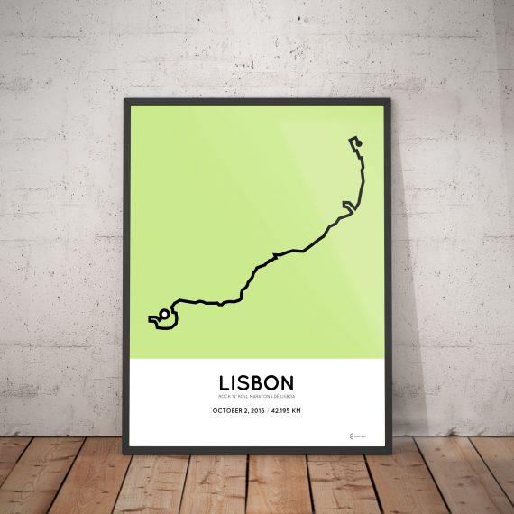 2016 lisbon marathon course poster