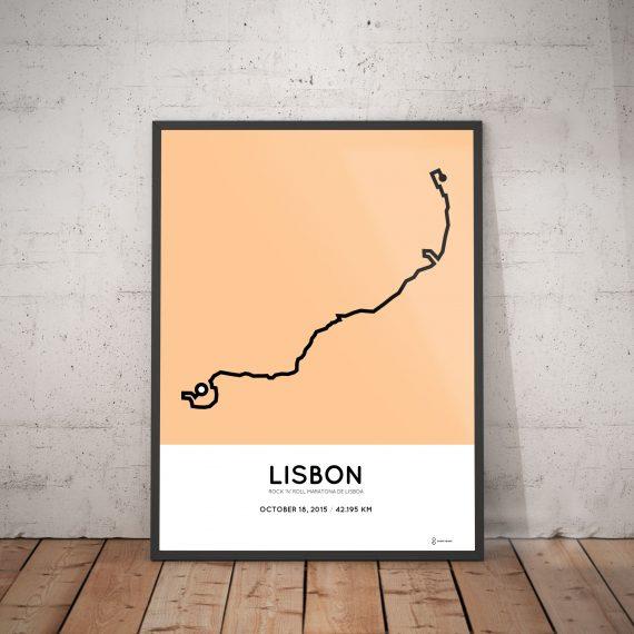 2015 lisbon marathon course print