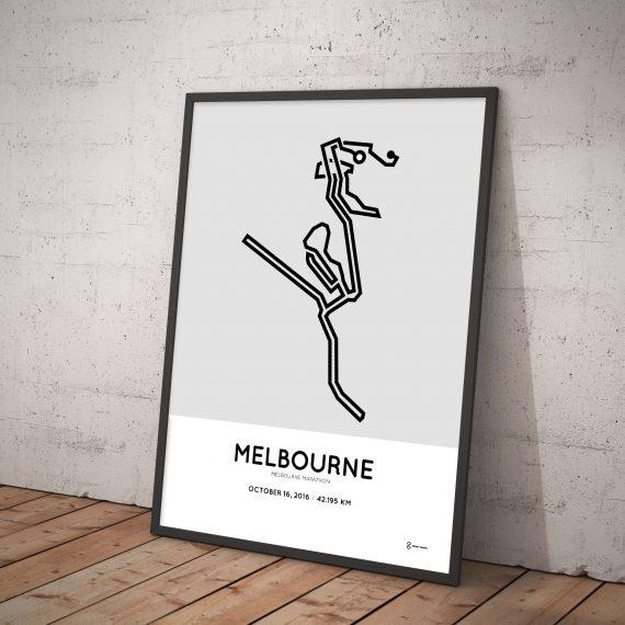 2016 melbournemarathon course print