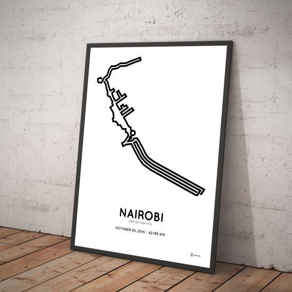 2016 nairobi marathon course print