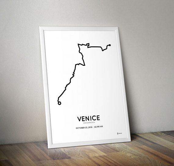 2016 venice marathon route poster