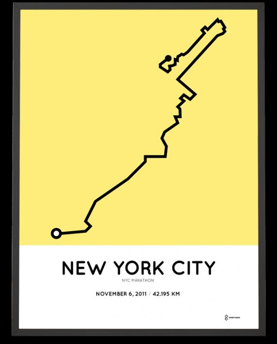 2011 nyc marathon course print