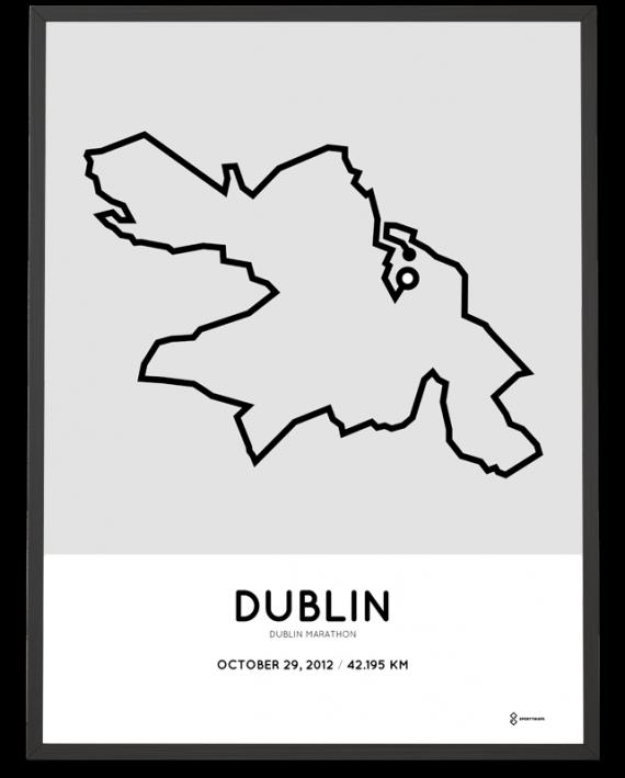 2012 Dublin marathon course print
