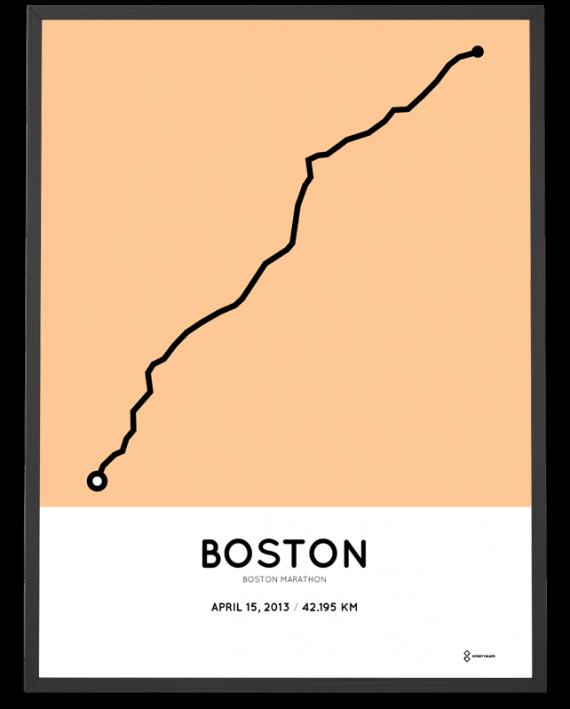 2013 boston marathon course poster