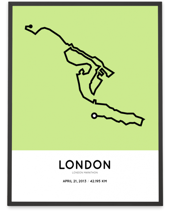 2013 london marathon route poster